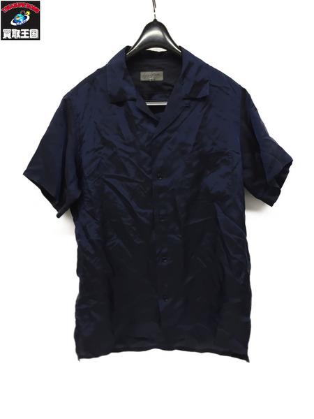 Yohji Yamamoto S/S シャツ 紺 2 HB-B61-210【中古】