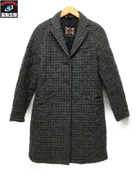LAVENHAM ウールキルティングコート チェック 36【中古】