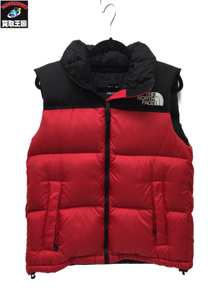 THE NORTH FACE ヌプシベスト S RED/BLK【中古】