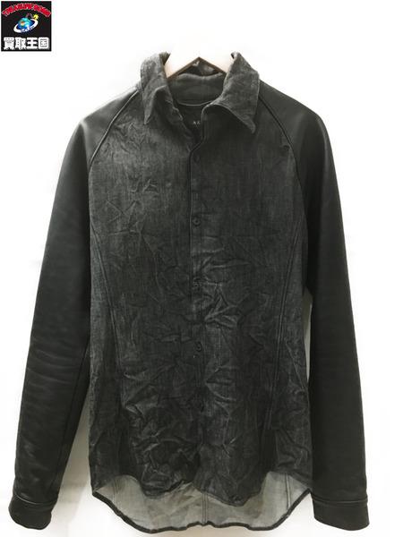 AKM wrinkle raglan shirt S-008【中古】[値下]
