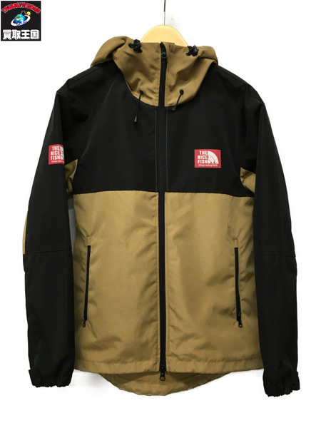 BASSMANIA THE NICE FISH 2tone arch logo mountain parka(M)【中古】