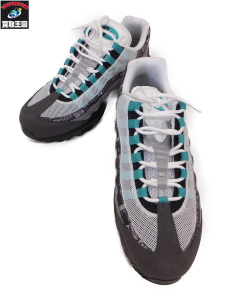 NIKE AIR MAX 95 PRNT ATMOS WE LOVE NIKE CLEAR JADE 【中古】[値下]