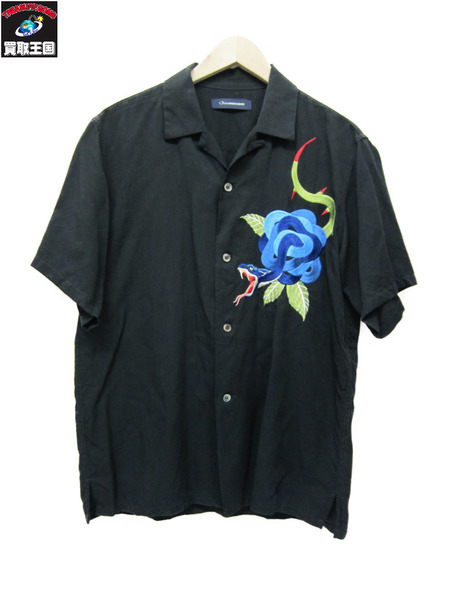 JohnUNDERCOVER×STUDIOUS 17SS Embroidery open collar shirt 【中古】