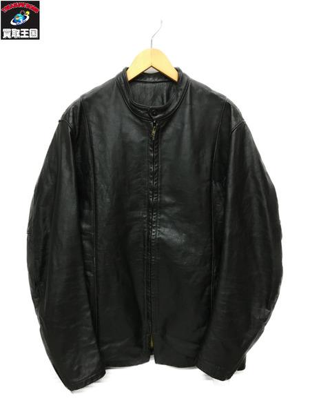 60~70s頃 BATES レザーシングルライダースジャケット カスタムオーダー(-) ブラック【中古】