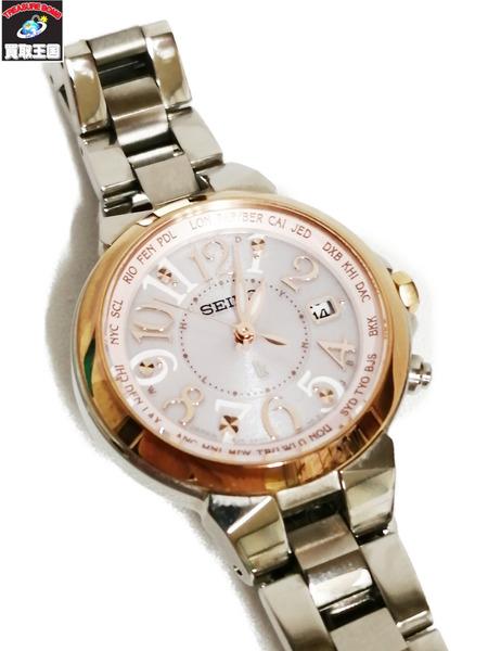 SEIKO/セイコー ルキア SSQV004 1B25-0AC0 ソーラー電波 レディース腕時計【中古】