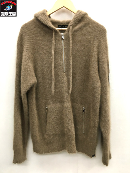 18AW/roarguns/ロアーガンズ/WAPPEN 12GG RACOON HOODIE/ラクーンニットパーカー/18FGK-01/3【中古】