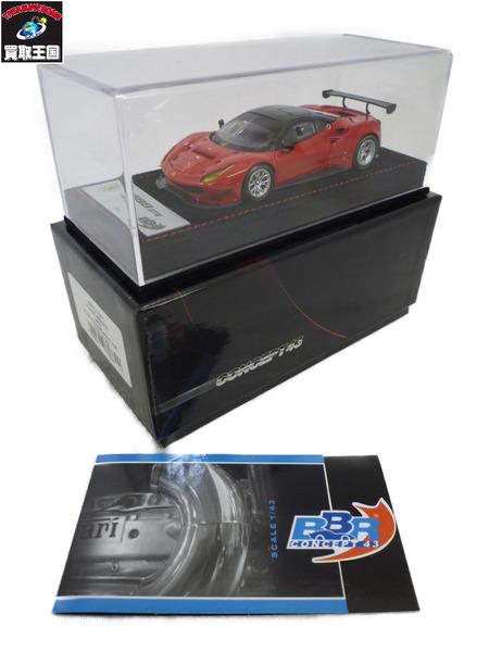 BBR 1/43 フェラーリ 488 GTE 2015 ロッソコルサ/カーボンルーフ【中古】