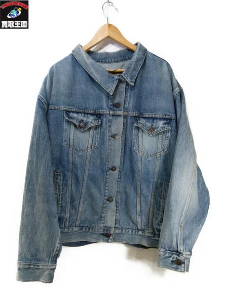 34acce7ea390 オーバーサイズデニムジャケット オンライン/40【】[値下]:買取王国 店