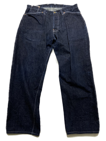 TENDER/132/WIDE DENIM PANTS/4/インディゴ【中古】[▼]