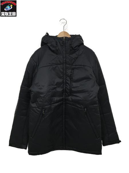 STUSSY バッククラウンロゴ/中綿ジャケット 黒 (L) 【中古】