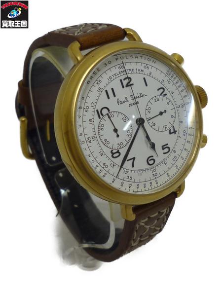 Paul Smith ポールスミス クロノグラフ QZ腕時計 ブラウン【中古】