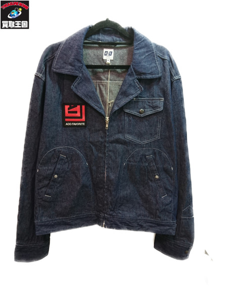 AIE 20SS LTB Jacket Indigo 8oz Denim/デニムジップブルゾン M【中古】[▼]