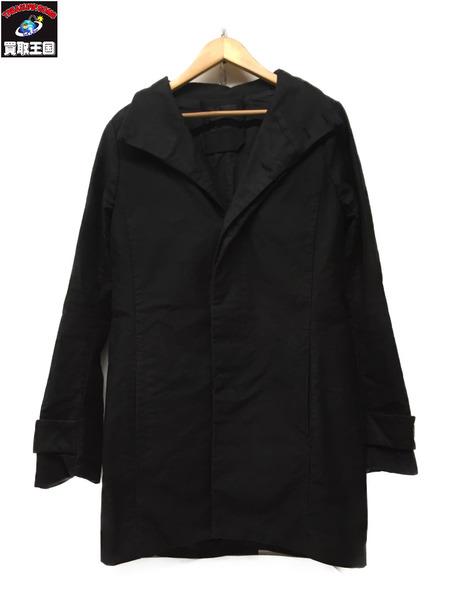 OURET スタンドカラーコート Size2 BLK【中古】