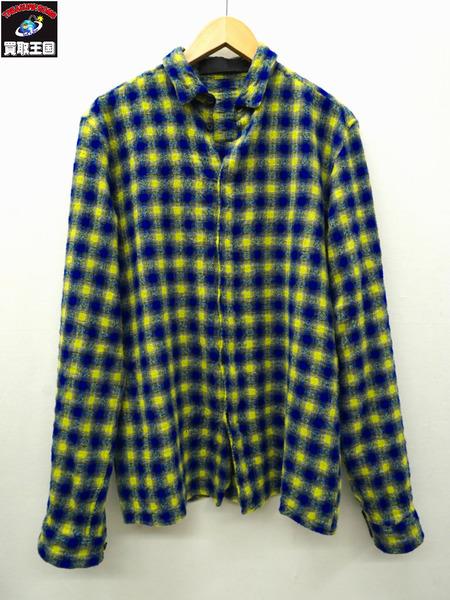 Haider Ackermann/ハイダーアッカーマン/ウール混チェックシャツ/XS【中古】[値下]