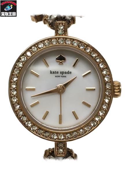 kate spade new york 腕時計/クォーツ/デイジーチェン/ローズゴールド【中古】[▼]