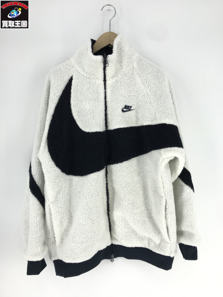NIKE/19FW/BIG SWOOSH BOA JACKET/サイズL/WHT【中古】[▼]