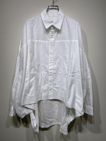 Y's/20SS/コットンツイルレイヤードビッグシャツ/2/WHT【中古】