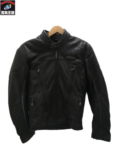 Harley-Davidson/シングルライダースジャケット/レーシング/レザー/BLK/S【中古】