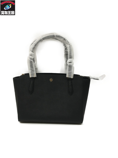Tory Burch EMERSON SMALL TOP ZIP TOTE BLACK/001 OS【中古】