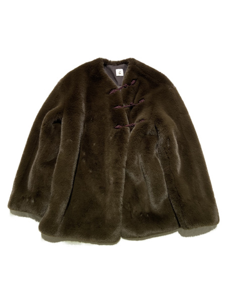 6ROKU/FAKE FUR CHINA OUTER/ブラウン【中古】