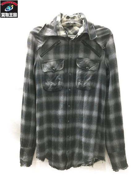 L.G.B. SHIRT-G 3608C ロングチェックシャツ【中古】[値下]
