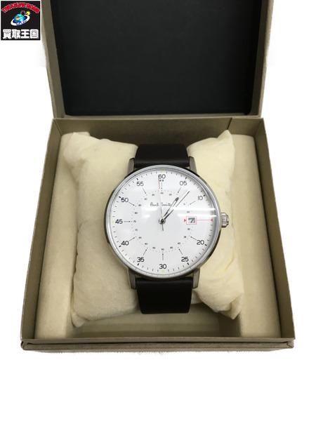 Paul Smith Gauge クォーツ腕時計 白 P10072【中古】