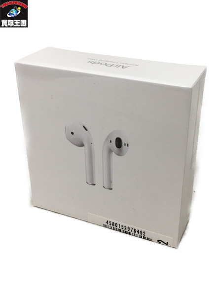 Apple Air Pods with Wireless Charging Case 第2世代 MRXJ2J/A イヤホン【中古】