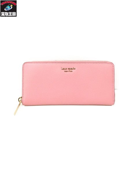 kate spade new york SYLVIA SLIM CONTINENTAL WALLET ピンク【中古】