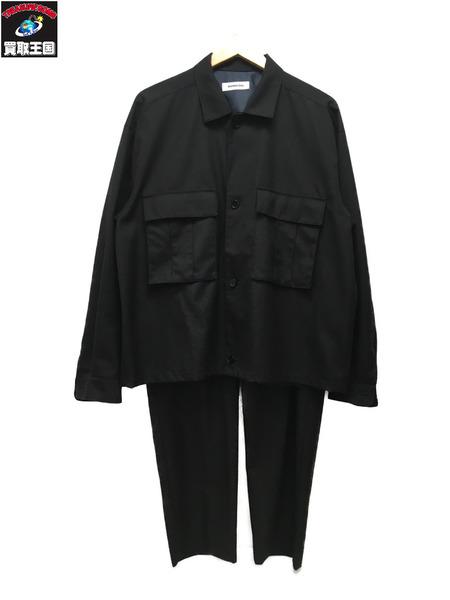 MONKEY TIME CPOジャケット/ワイドパンツ セットアップ 1 黒【中古】