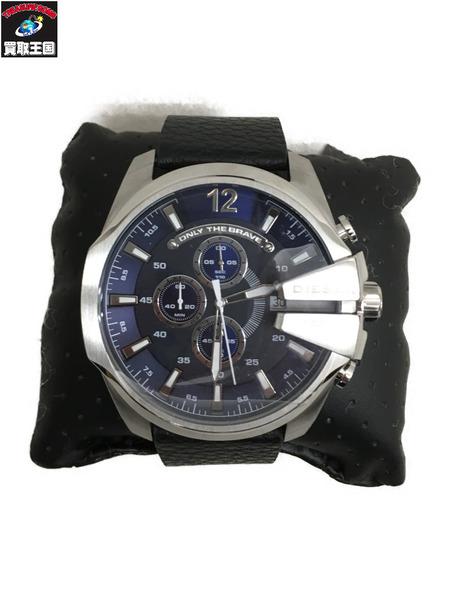 DIESEL メガチーフ クロノグラフ クォーツ腕時計 DZ-4423 黒【中古】