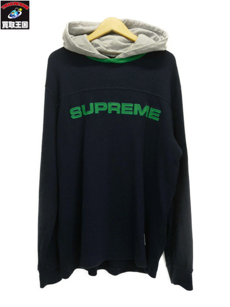 Supreme Hooded Waffle Ringer (L) 17AW【中古】