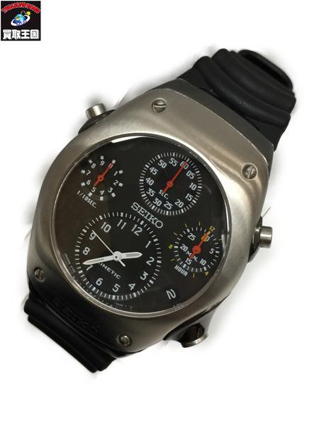 SEIKO KINETIC クロノグラフ オートクオーツ 9T82-0A30 セイコー キネティック 腕時計 ウォッチ【中古】