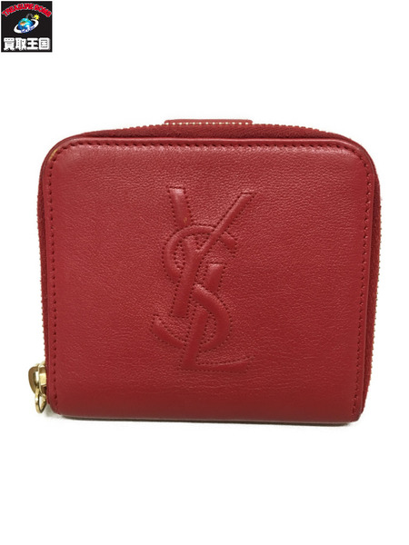 YSL コンパクトウォレット 赤【中古】