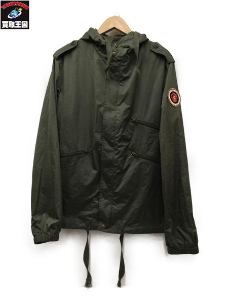SAINT LAURENT 18SS フィールドジャケット Size48 カーキ サンローラン ナイロンジャケット【中古】