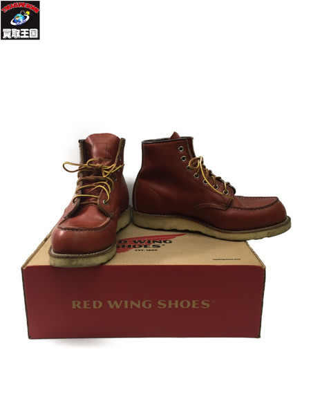 RED WING セッター 8875 モックトゥ 茶 Size8 1/2 【中古】