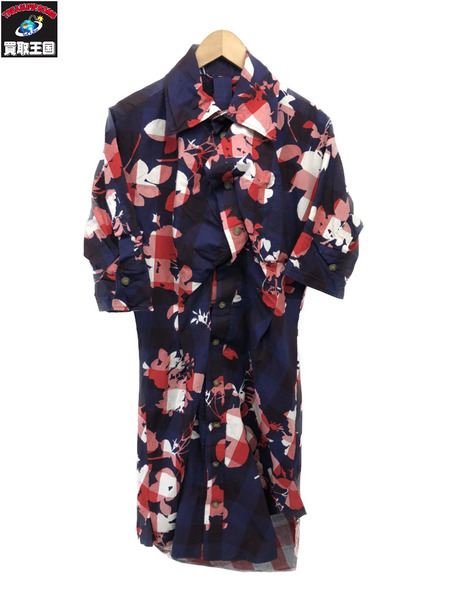 Vivienne Westwood ANGLOMANIA 総柄ロングシャツワンピ【中古】