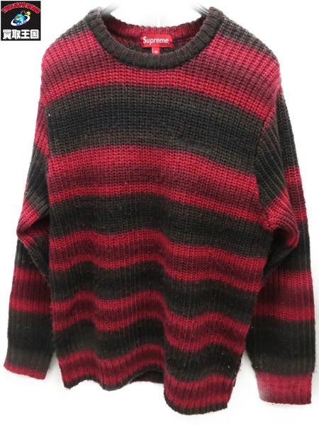 Supreme 17AW Ombre Stripe Sweater (M)【中古】
