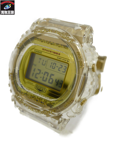 G-SHOCK 35周年限定 グレイシアゴールド DW-5735E-7JR クォーツ 腕時計 【中古】