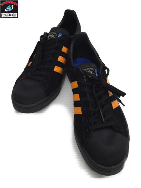adidas PORETR CAMPUS 黒/オレンジ 27.5cm US9.5【中古】
