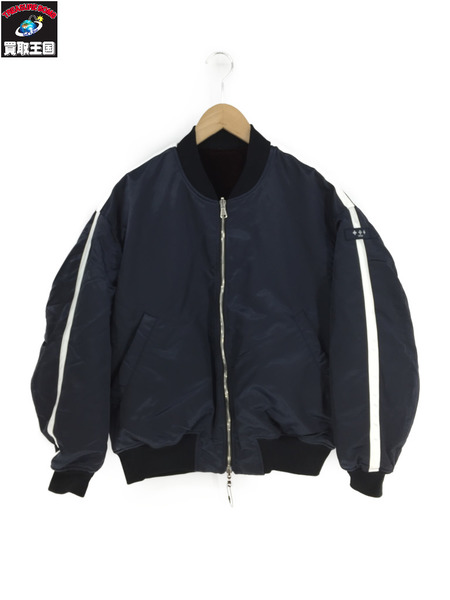 TATRASxLUCIO VANOTTI リバーシブル フライトジャケット(-)紺【中古】[▼]