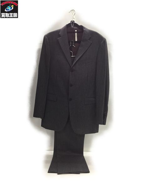 BURBERRY BLACK LABEL ストライプスーツ (40R) グレー【中古】