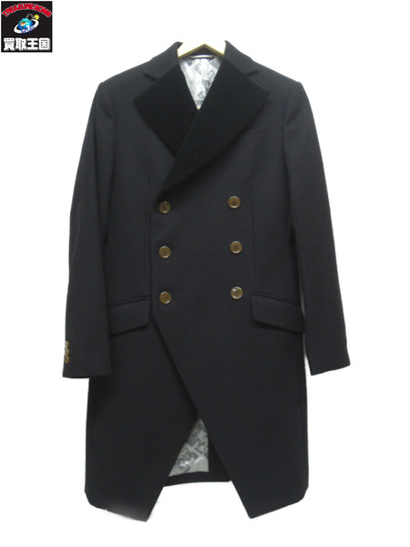 Vivienne Westwood MAN ウールダブルチェスターコート(46)ブラック【中古】