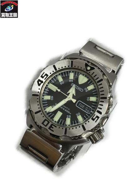 SEIKO ダイバーズウォッチ ブラックモンスター 自動巻き 7S26-0350 セイコー 腕時計 オートマティック ウォッチ【中古】