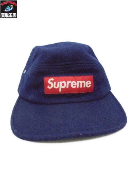Supreme Woolrich BoxLogoCampCap ネイビー【中古】[値下]