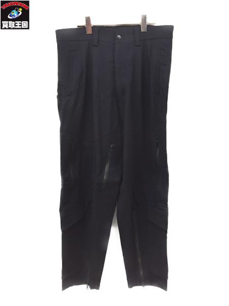 Y's for men ワイズフォーメン ワイドパラシュートパンツ ウールパンツ sizeS NVY 【中古】