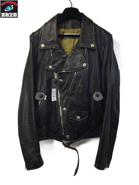 GOLDEN GOOSE CHIODO GOLDEN ダブルライダース (SIZE:S)【中古】