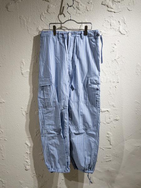 UNUSED/20SS/Stripe Military Pants/2/ブルー【中古】