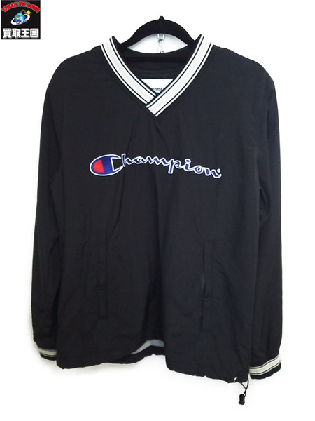 Supreme×Champion Warm Up Pullover 黒 15SS S【中古】