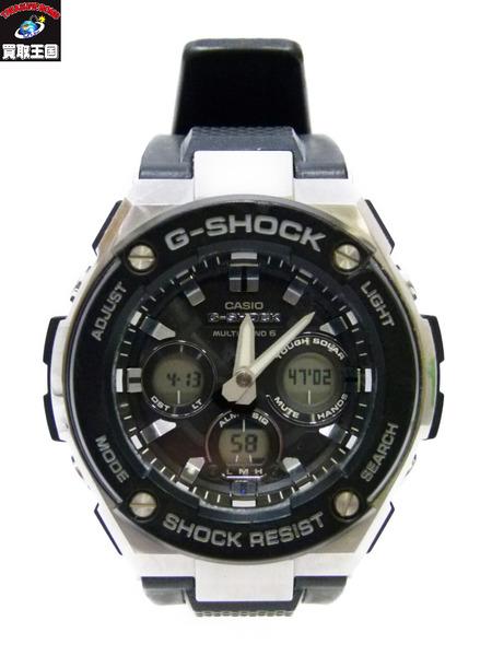 CASIO G-SHOCK GST-W300 タフソーラー カシオ ジーショック 黒 ブラック【中古】[▼]