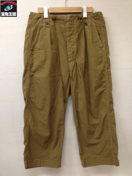 bukht PIN TUCK ARMY TROUSER カーキ【中古】
